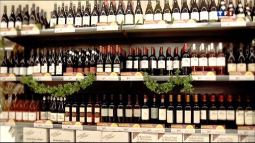 Foire aux vins etalage grande surface