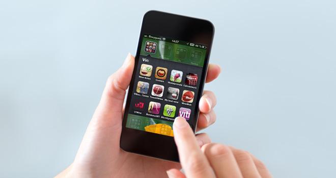 Apps sur un smartphone