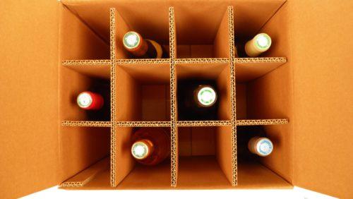 vin emballé dans carton