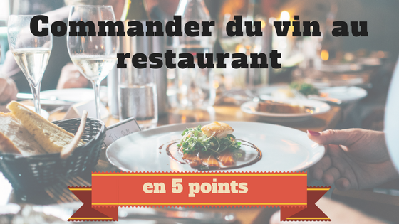 Entête article commander du vin au restaurant