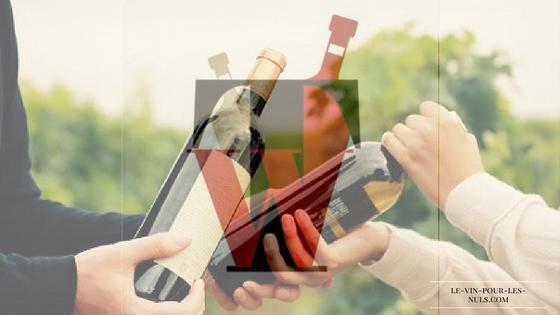 TrocWine image d'article présentant le logo et un échange