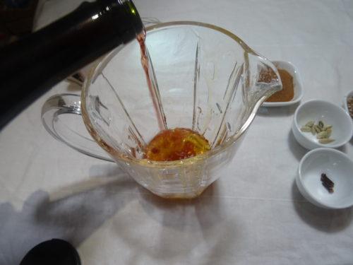hypocras mélange du miel et vin