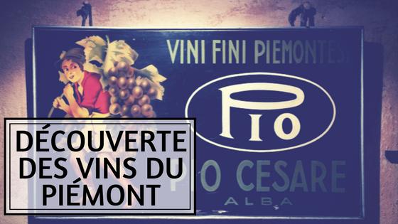 Article sur les vins du Piémont en Italie