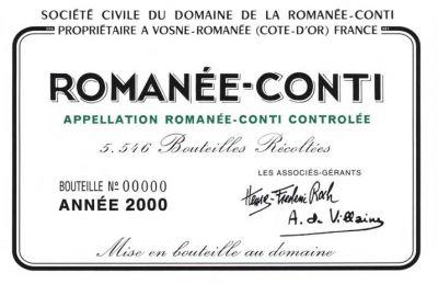 Etiquette Romanee Conti