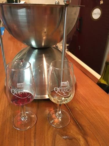 Dégustation dans la Valencay de vins rouges et de vins blancs