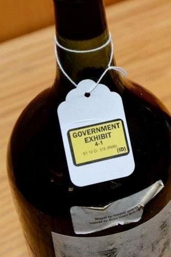 bouteilles de Kurniawan saisie par la justice américaine
