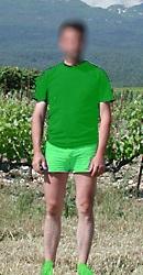 Vigneron vert pour vendanger en vert