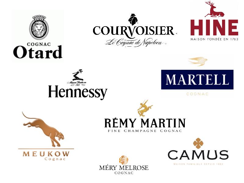 logos de grandes maisons de Cognac
