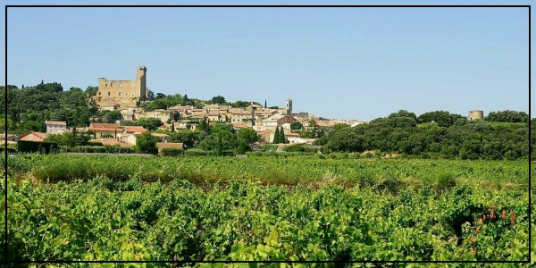 Un château au milieu des vignes