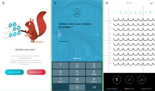 Modes de création d'une cave à vin sur l'application mobile PLOC