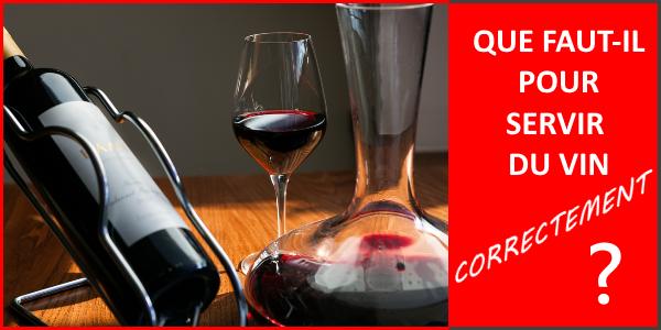 quel matériel pour le service du vin ?