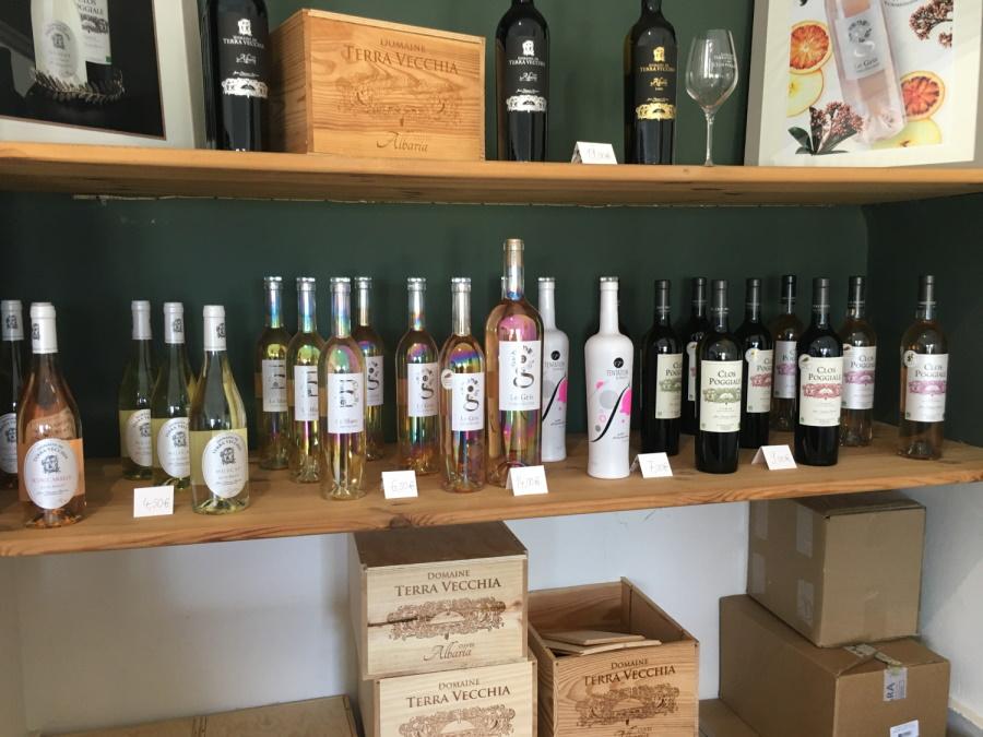 une partie des vins de Terra Vecchia - Clos Poggiale