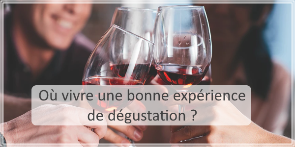 Où vivre une boone expérience de dégustation de vin ?