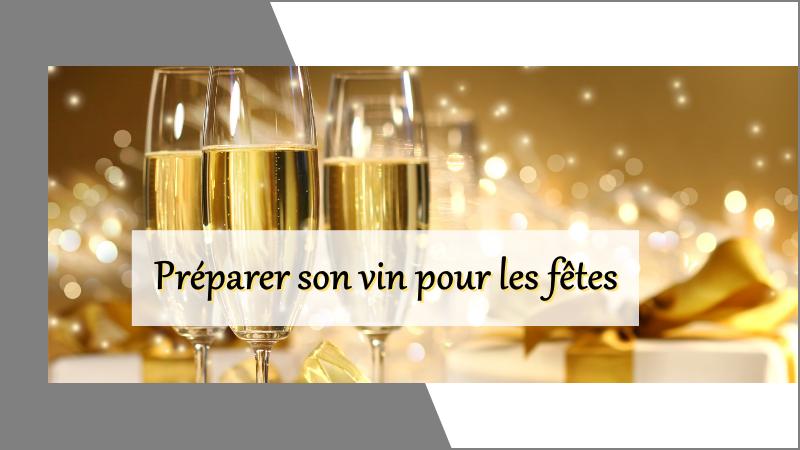 Comment préparer et choisir son vin pour les fêts de fin d'année