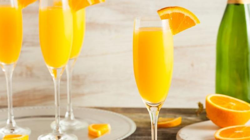 cocktail mimosa à base de Champagne et d'orange