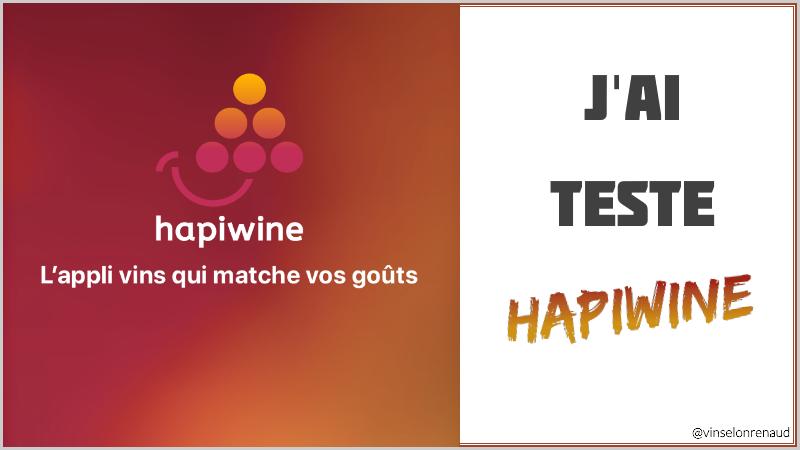 J'ai testé l'app mobile hapiwine