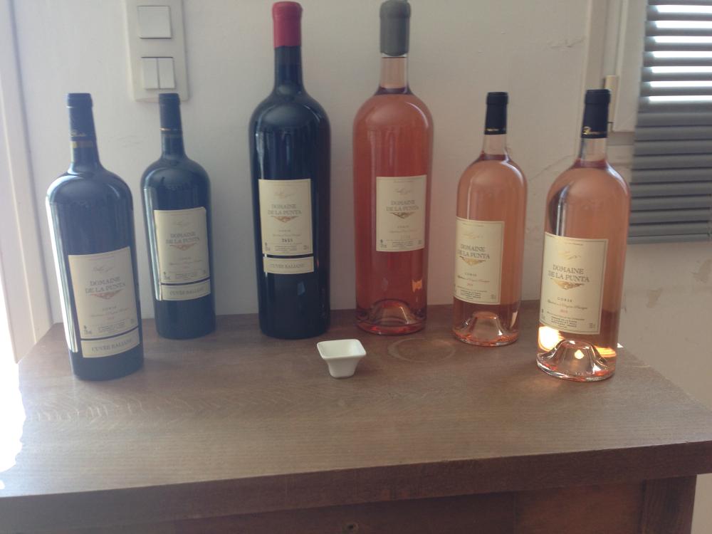 Panel de bouteille du Domaine de la Punta