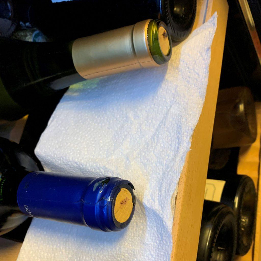 controle de l'étanchéité du bouchon après usage du coravin